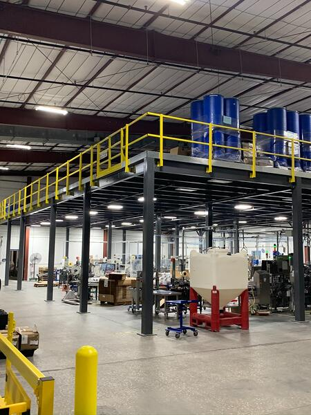 mezzanine to solve warehouse space challenges