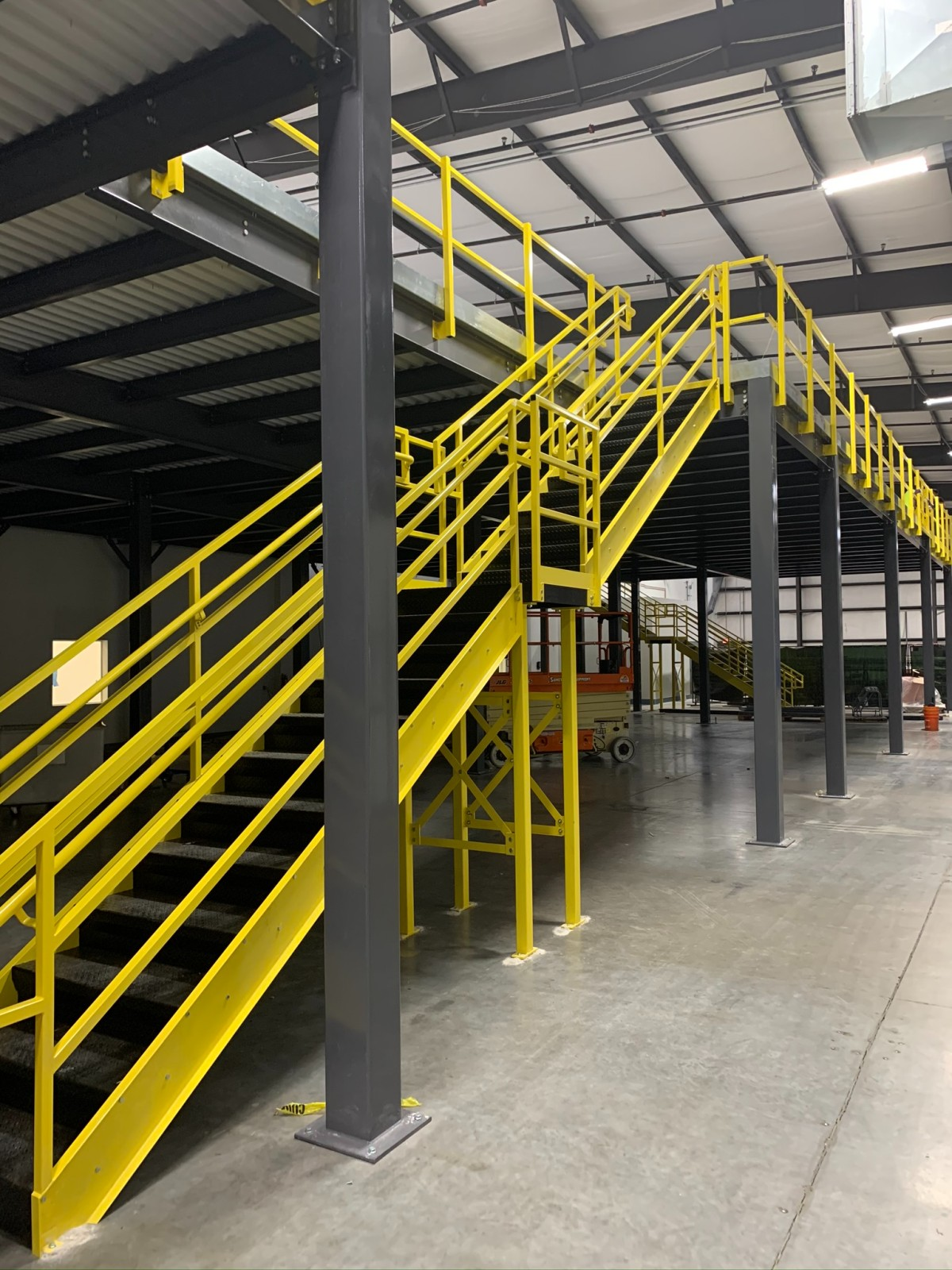 mezzanine stairs to solve warehouse space challenges