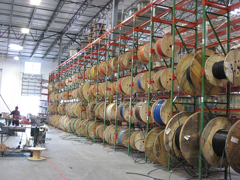 Wire Reel Storage Rack